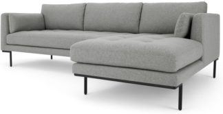 An Image of Harlow Right Hand Facing Chaise End Corner Sofa, Mountain Grey
