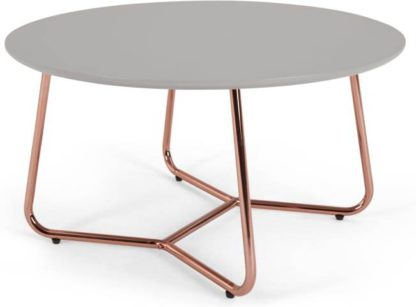 An Image of Nyla Coffee Table, Grey and Copper