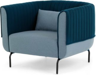 An Image of Bienno Armchair, Pigeon Blue and Petrol Teal