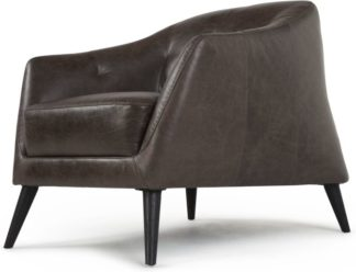 An Image of Nevada Armchair, Antique Grey Leather