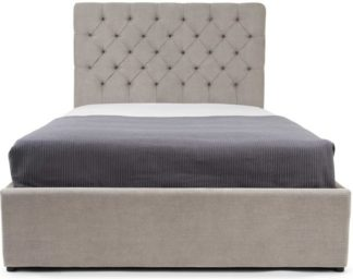 An Image of Skye Super Kingsize Bed with Storage, Owl Grey