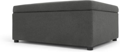 An Image of MADE Essentials Fip Ottoman Single Sofa Bed, Sterling Grey