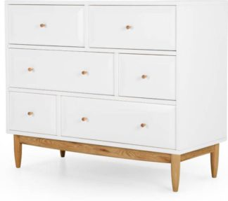An Image of Willow Chest of Drawers, Oak and White
