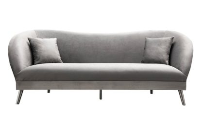 An Image of Lapio Three Seat Sofa - Dove grey