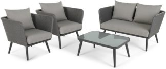 An Image of Sonora 4 Piece Lounge Set, Tonal Grey