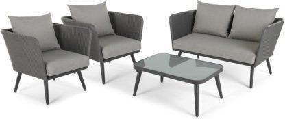 An Image of Sonora 4 Piece Lounge Set, Tonal Grey