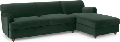 An Image of Orson Right Hand Facing Chaise End Sofa Bed, Autumn Green Velvet