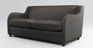 An Image of Custom MADE Helena Sofabed, Plush Asphalt Velvet