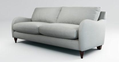 An Image of Custom MADE Sofia 3 Seater Sofa, Athena Dove Grey
