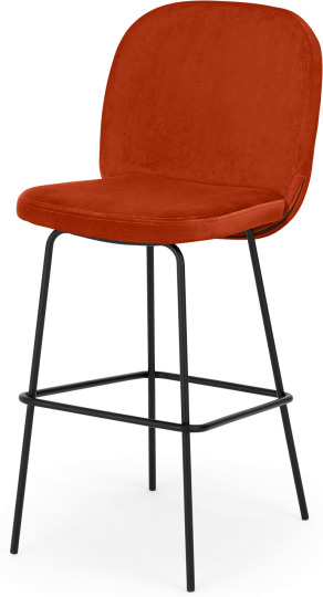 An Image of Safia Barstool, Flame Orange
