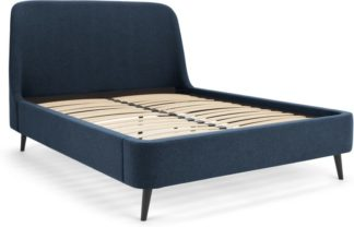 An Image of Hayllar Super King Size Bed, Aegean blue