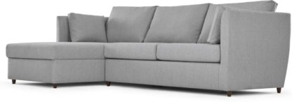 An Image of Milner Left Hand Facing Corner Storage Sofa Bed with Memory Foam Mattress, Granite Grey