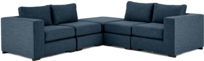 An Image of Mortimer Modular Corner Sofa Group, Harbour Blue