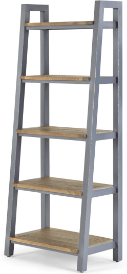 An Image of Iona Shelving Unit, Solid Pine and Pebble Grey