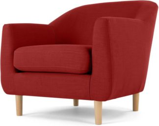 An Image of Tubby Armchair, Postbox Red