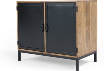 An Image of Lomond Compact Sideboard, Mango Wood and Black