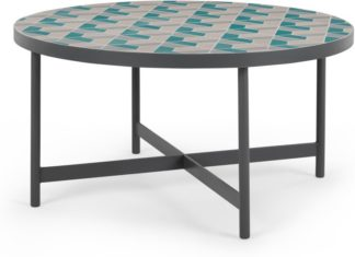An Image of Indra Garden Coffee Table, Pink and Green