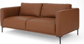 An Image of Milo Large 2 Seater Sofa, Otis Mocha Leather