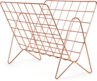 An Image of Bendt Wire Magazine Rack, Copper