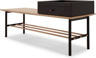 An Image of Panos Hallway bench, Oak and Copper