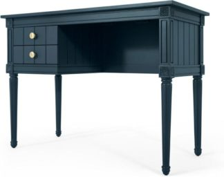 An Image of Bourbon Vintage Compact Desk, Dark Blue