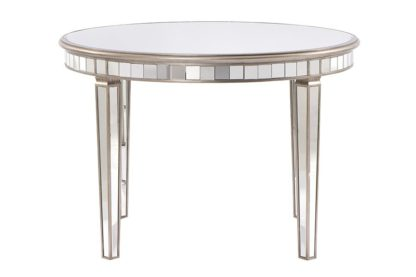 An Image of Antoinette Toughened Mirror Circular Dining Table