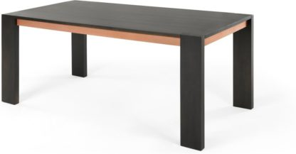 An Image of Anderson 8 Seat Dining Table, Mocha Mango Wood and Copper