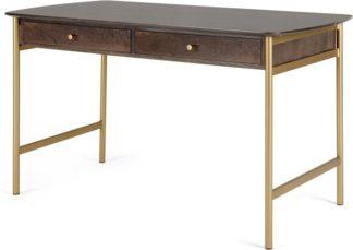 An Image of Bortolin Desk, Mango Wood and Brass