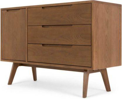An Image of Jenson Compact Sideboard, Dark Stain Oak
