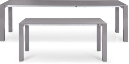 An Image of Bramante 8-12 Seat Extending Dining Table, Grey