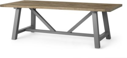 An Image of Iona 10 Seat Dining Table, Solid Pine and Grey