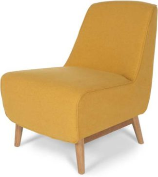 An Image of Leo Accent Chair, Yolk Yellow