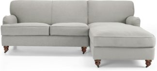 An Image of Orson Right Hand Facing Chaise End Corner Sofa, Chic Grey