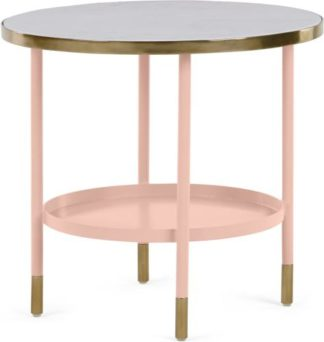 An Image of Fox Side table, Pink and Marble