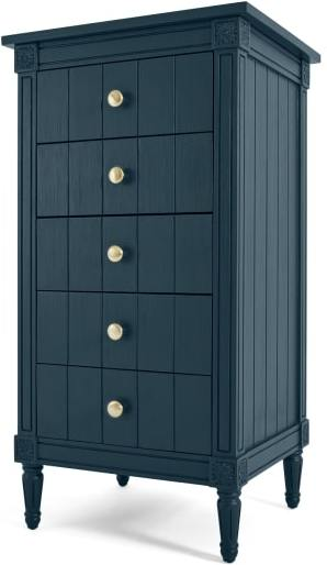 An Image of Bourbon Vintage Vanity Chest of Drawers, Dark Blue