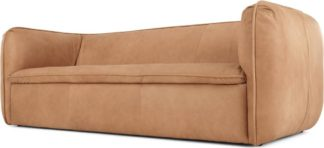 An Image of Berko 3 Seater Sofa, Tan Leather