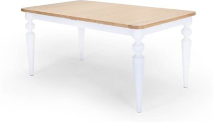 An Image of Betty 6-8 Seat Extending Dining Table, White