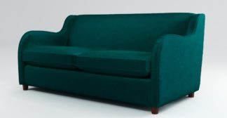 An Image of Custom MADE Helena Sofabed with Memory Foam Mattress, Plush Mallard Velvet