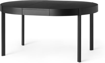 An Image of Oxford 4-6 Seat Round Extending Dining Table, Black