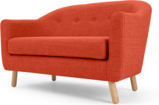 An Image of Lottie 2 Seater Sofa, Tuscan Orange