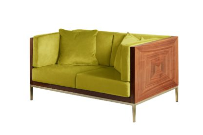 An Image of Ravello Two Seat Sofa - Lime