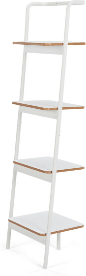 An Image of MADE Essentials Mino Leaning Shelves, White