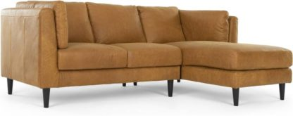 An Image of Lindon Right Hand Facing Chaise End Corner Sofa, Outback Tan Leather