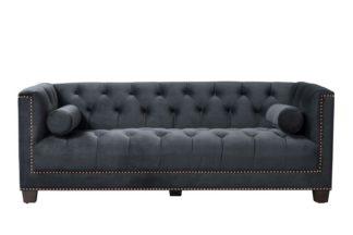 An Image of Bankes Three Seat Sofa - Black