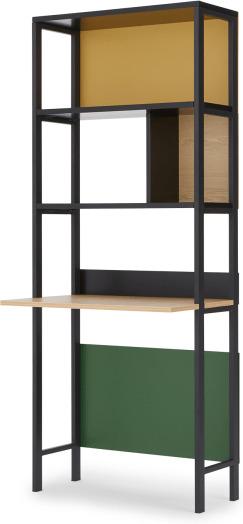 An Image of Duncan Storage Desk, Multicolour