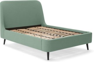 An Image of Hayllar King Size Bed, Mint Green Weave