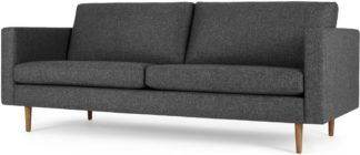An Image of Leighton 3 Seater Sofa, Textured Mist Grey