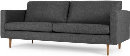 An Image of Leighton 3 Seater Sofa, Textured Mist Grey