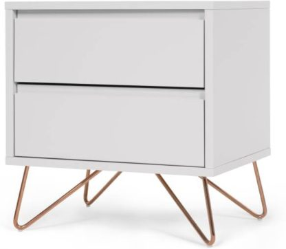 An Image of Elona bedside table, grey and copper