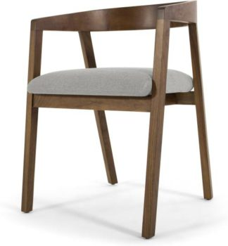 An Image of Placido Carver Dining Chair, Hail Grey